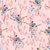 Nahtloses Muster der Balletttänzer Lizenzfreie Stockbilder