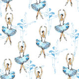Nahtloses Muster der Balletttänzer Stockbild