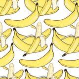 Nahtloses Muster der Banane Lizenzfreies Stockfoto