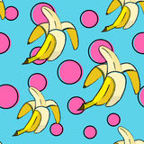 Nahtloses Muster der Banane lizenzfreie abbildung