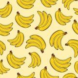 Nahtloses Muster der Bananenfrucht vektor abbildung