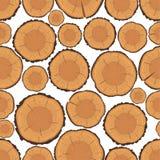 Nahtloses Muster der Baumringe Lizenzfreies Stockbild