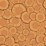Nahtloses Muster der Baumringe Lizenzfreie Stockfotos