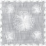 Nahtloses Muster der Baumwollstoff-Webart in den grauen Farben Stockfotografie