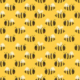 Nahtloses Muster der Biene Lizenzfreies Stockbild