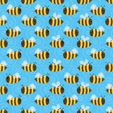 Nahtloses Muster der Biene Stockfotografie