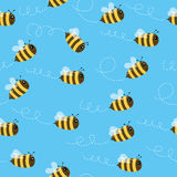 Nahtloses Muster der Biene Lizenzfreie Stockbilder