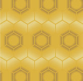 Nahtloses Muster der Bienenwabe Vektor Abbildung
