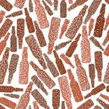 Nahtloses Muster der Bierflaschen, nahtloser Hintergrund des Kneipenthemas, VE Lizenzfreie Stockfotos