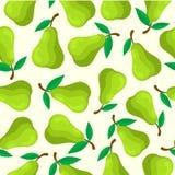 Nahtloses Muster der Birnenfrucht stock abbildung