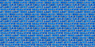 Nahtloses Muster der blauen Maurerarbeit. Stockfotografie