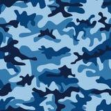 Nahtloses Muster der blauen Meerwasser-Tarnung Lizenzfreie Stockfotos