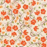 Nahtloses Muster der Blume Lizenzfreies Stockfoto