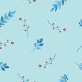 Nahtloses Muster der Blumen und der Blätter vektor abbildung