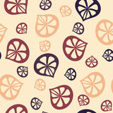 Nahtloses Muster der Blumenblattkaffeefarbe stock abbildung