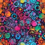 Nahtloses Muster der Blumenendstück-Art Stockfotografie