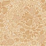 Nahtloses Muster der Blumengekritzeltapete Lizenzfreies Stockfoto