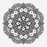 Nahtloses Muster der Blumenmandala vektor abbildung