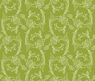 Nahtloses Muster der Blumenstrudel Lizenzfreies Stockfoto