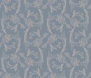 Nahtloses Muster der Blumenstrudel Stockfoto