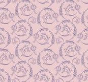 Nahtloses Muster der Blumenstrudel Stockfotografie