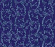 Nahtloses Muster der Blumenstrudel Stockfotos