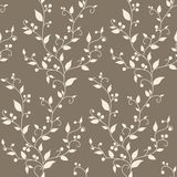 Nahtloses Muster der Blumenvektorweinlese stockfoto