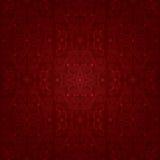 Nahtloses Muster der Blumenweinlese auf einem roten Hintergrund Stockbild