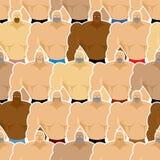 Nahtloses Muster der Bodybuildingwettbewerbe Viele Athletenmänner Lizenzfreie Stockbilder