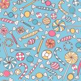 Nahtloses Muster der Bonbons Lizenzfreies Stockbild