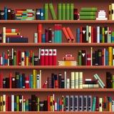 Nahtloses Muster der Buchregal-Bibliothek Lizenzfreie Stockfotos