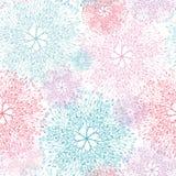 Nahtloses Muster der bunten abstrakten Baumvignetten lizenzfreie abbildung