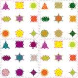 Nahtloses Muster der bunten fantastischen Formen Lizenzfreies Stockbild