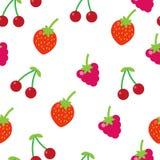 Nahtloses Muster der bunten Früchte Stockbild