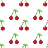 Nahtloses Muster der bunten Früchte Stockbilder