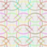 Nahtloses Muster der bunten Kreise Moderner geometrischer Hintergrund in den modischen Farben: weich Rosa, Marineblau, Minze, Kor vektor abbildung