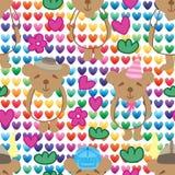 Nahtloses Muster der bunten Liebe des Bärnhutes lizenzfreie abbildung