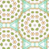 Nahtloses Muster der bunten Mosaikzusammenfassung Lizenzfreies Stockbild