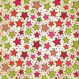 Nahtloses Muster der bunten Sterne Stockbild