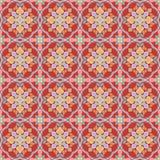Nahtloses Muster der bunten thailändischen Kunst im roten Ton lizenzfreie abbildung