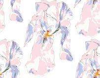 Nahtloses Muster der dekorativen Iris Lizenzfreies Stockfoto