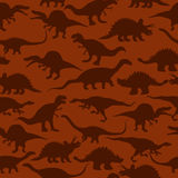Nahtloses Muster der Dinosaurier Stockfoto
