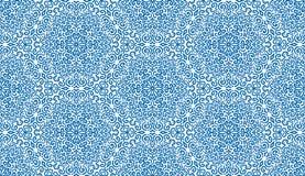 Nahtloses Muster der durchdachten blauen Fantasieblume Lizenzfreie Stockfotografie