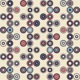 Nahtloses Muster der einfachen Geometrie Retro--Art Abbildung Lizenzfreie Stockbilder