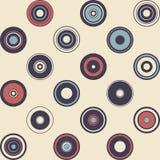 Nahtloses Muster der einfachen Geometrie Retro--Art Abbildung Lizenzfreies Stockfoto