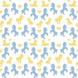 Nahtloses Muster der Einhörner Stockbilder