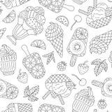 Nahtloses Muster der Eiscreme Stockbilder