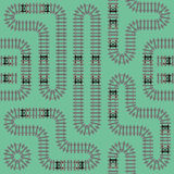 Nahtloses Muster 2 der Eisenbahn Lizenzfreie Stockfotografie