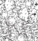 Nahtloses Muster der Elefanten. Stockbild