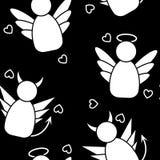 Nahtloses Muster der Engel und der Dämonen Vektor Abbildung